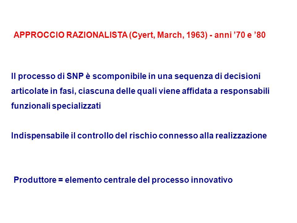 APPROCCIO RAZIONALISTA (Cyert, March, 1963) - anni '70 e '80