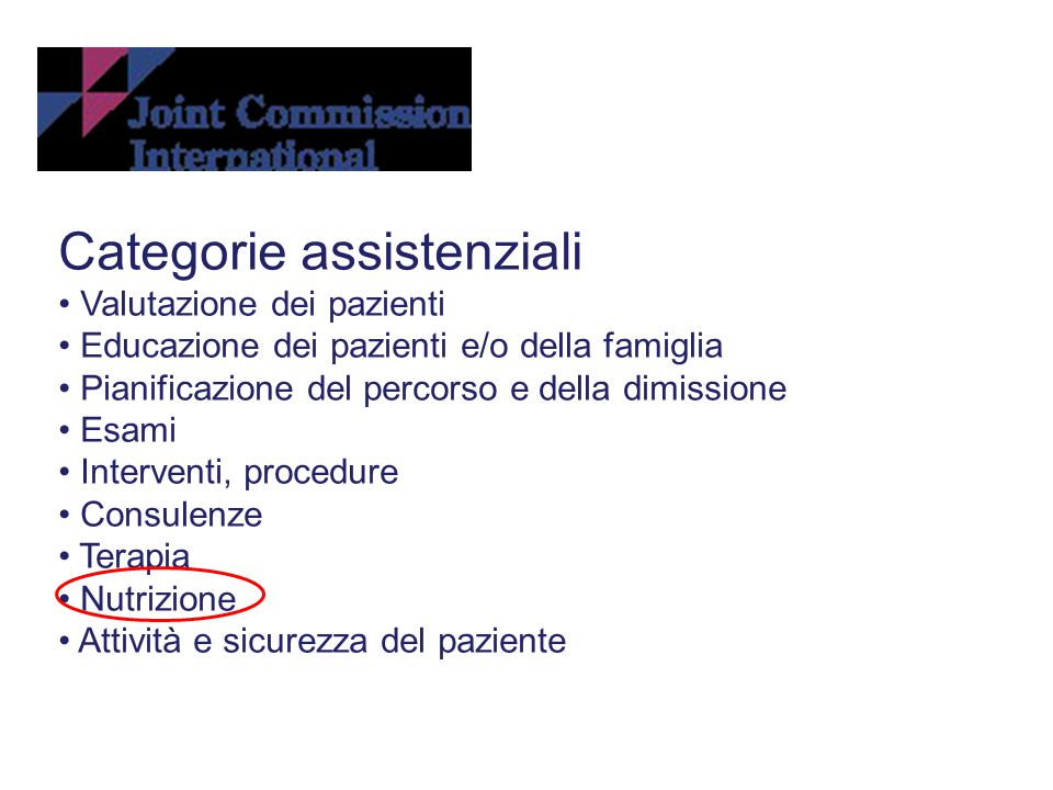 Categorie assistenziali
