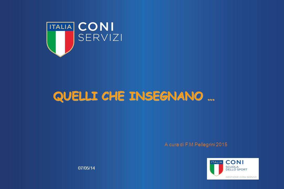 QUELLI CHE INSEGNANO … A cura di F.M.Pellegrini 2015 07/05/14