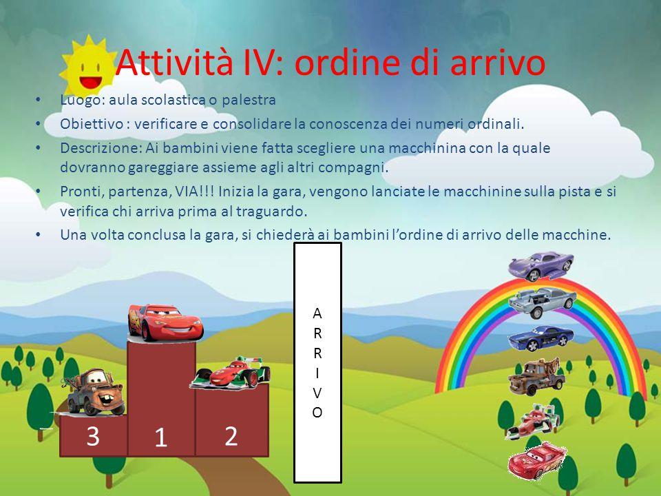 Attività IV: ordine di arrivo