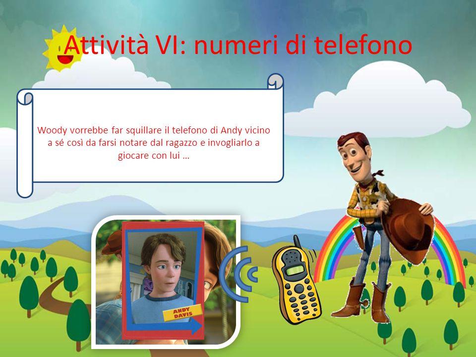 Attività VI: numeri di telefono