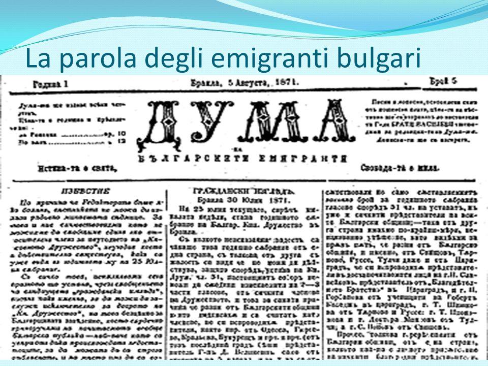 La parola degli emigranti bulgari