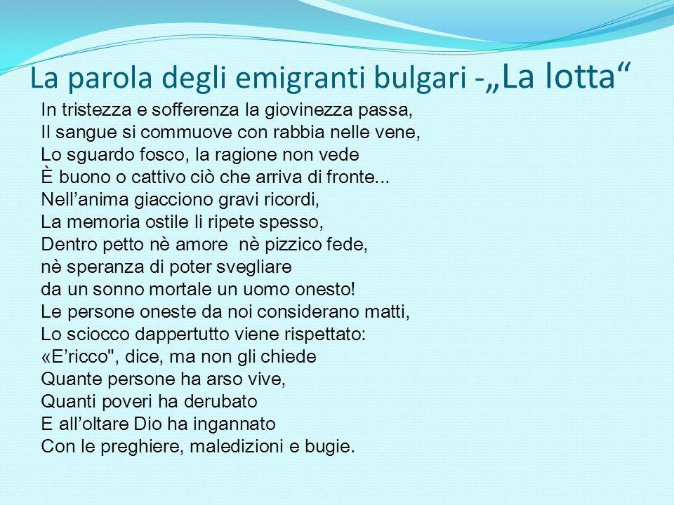 """La parola degli emigranti bulgari -""""La lotta"""