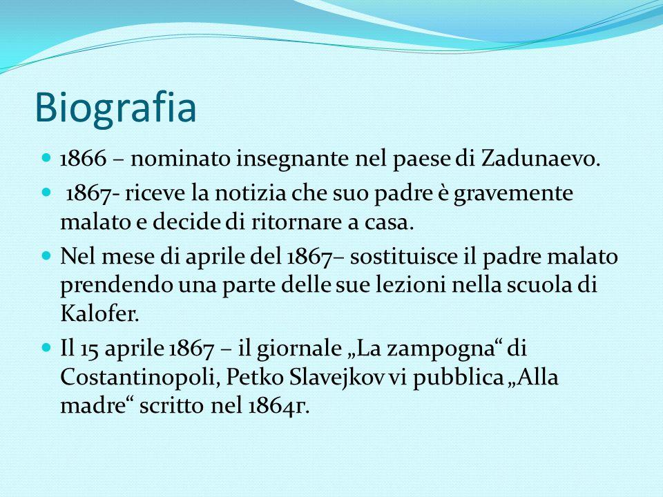 Biografia 1866 – nominato insegnante nel paese di Zadunaevo.