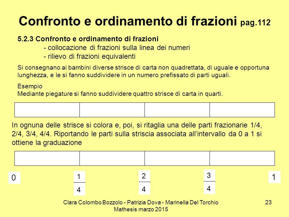 Confronto e ordinamento di frazioni pag.112