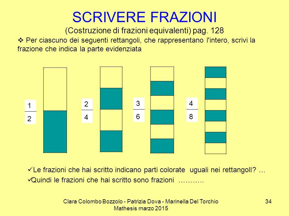 SCRIVERE FRAZIONI (Costruzione di frazioni equivalenti) pag. 128