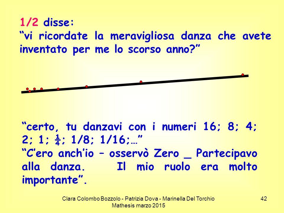 certo, tu danzavi con i numeri 16; 8; 4; 2; 1; ¼; 1/8; 1/16;…
