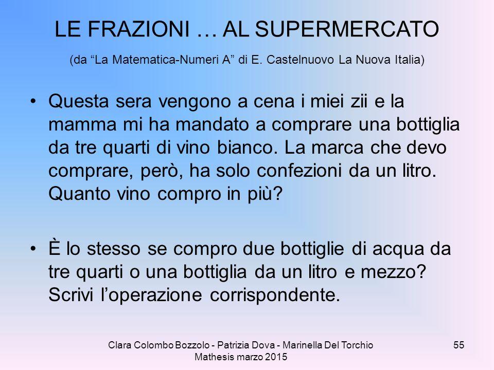 LE FRAZIONI … AL SUPERMERCATO (da La Matematica-Numeri A di E