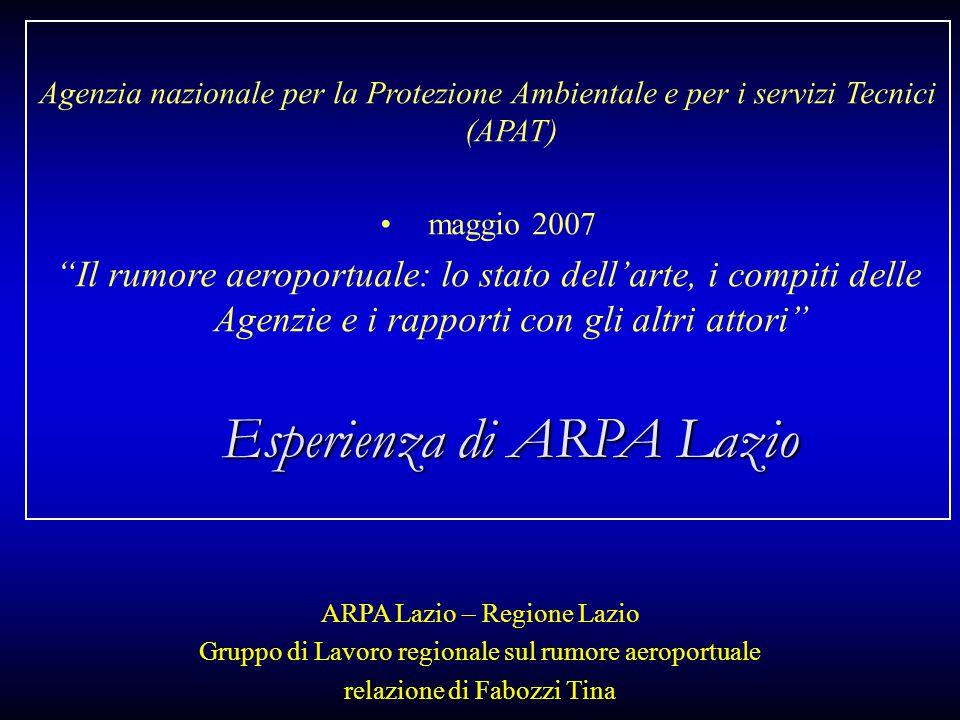 Esperienza di ARPA Lazio