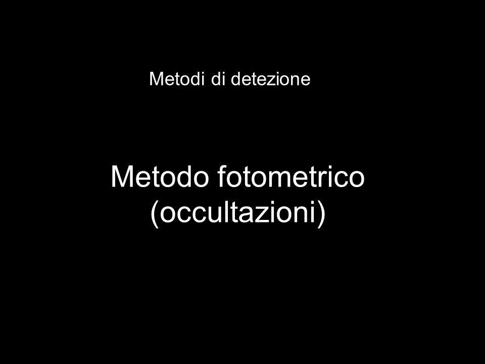 Metodi di detezione Metodo fotometrico (occultazioni)