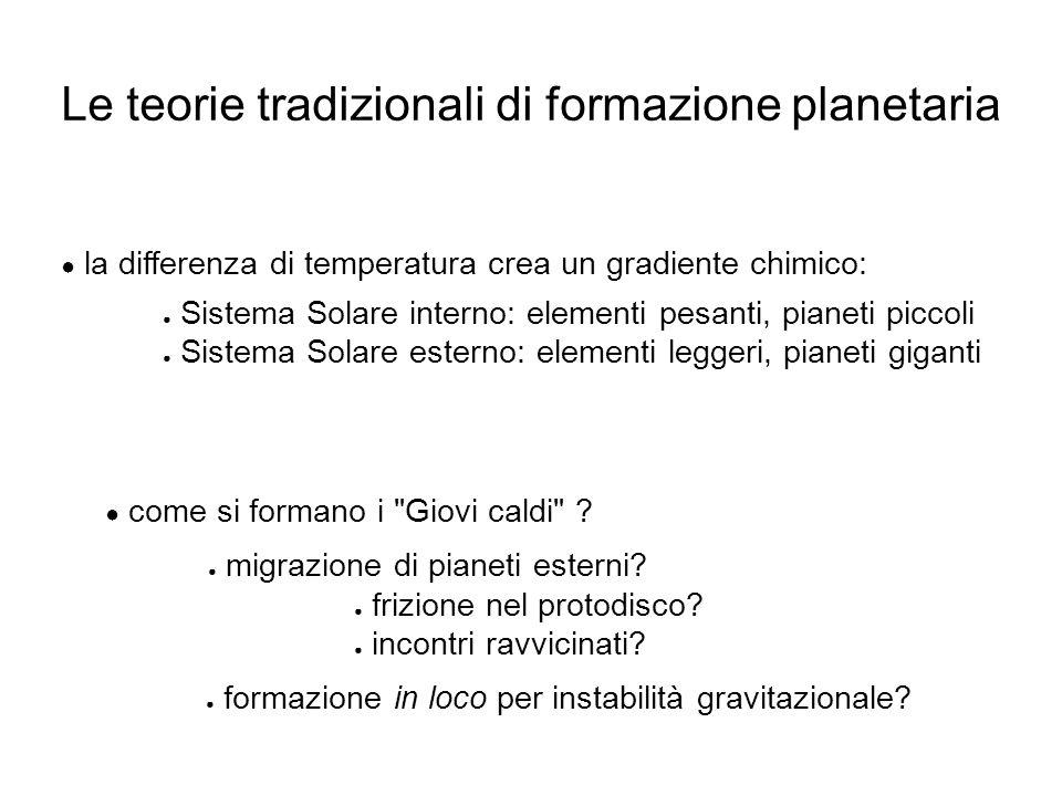Le teorie tradizionali di formazione planetaria