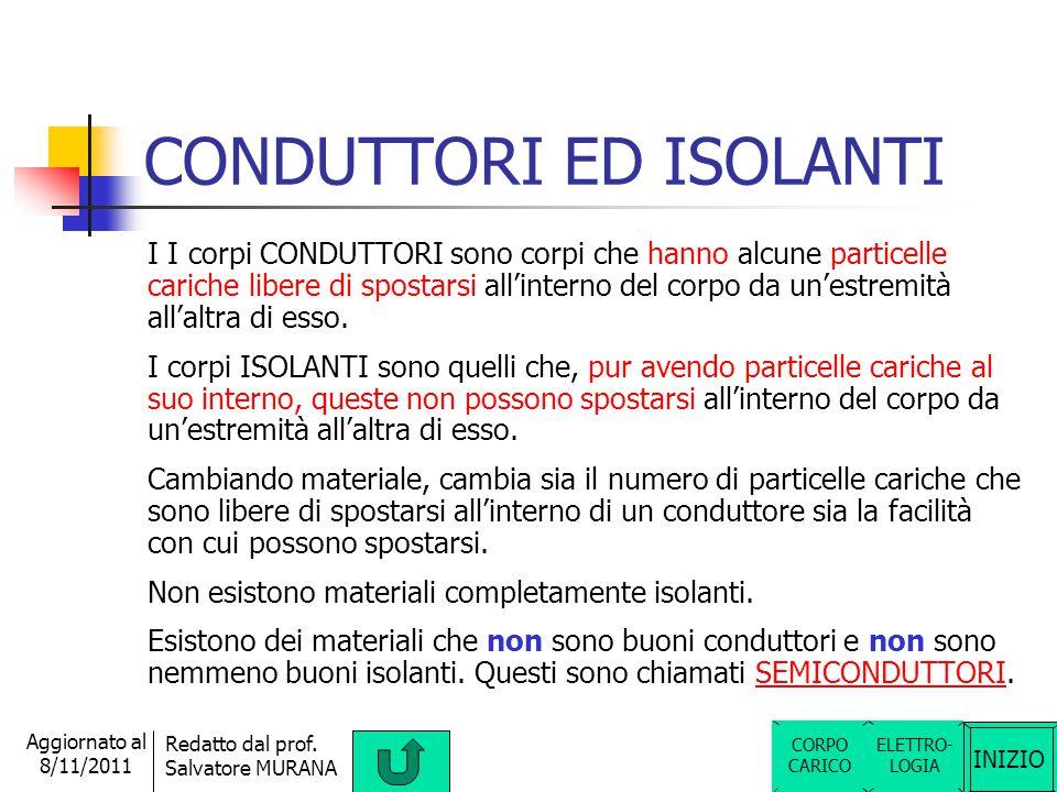 CONDUTTORI ED ISOLANTI