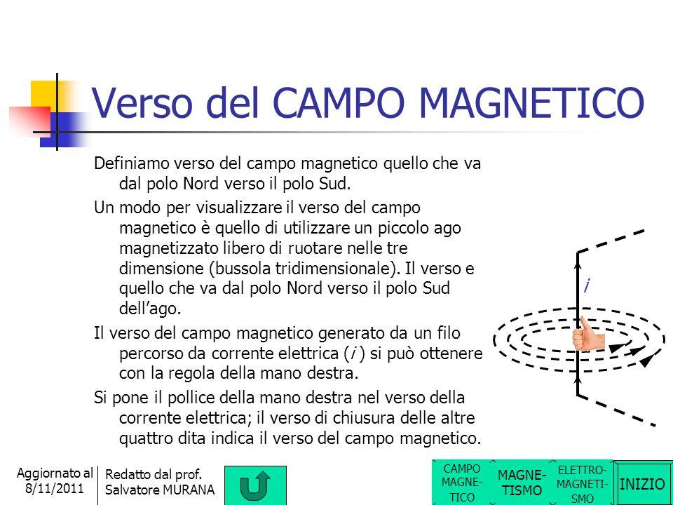 Verso del CAMPO MAGNETICO