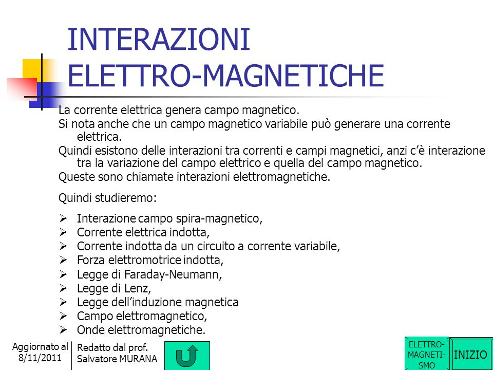 INTERAZIONI ELETTRO-MAGNETICHE