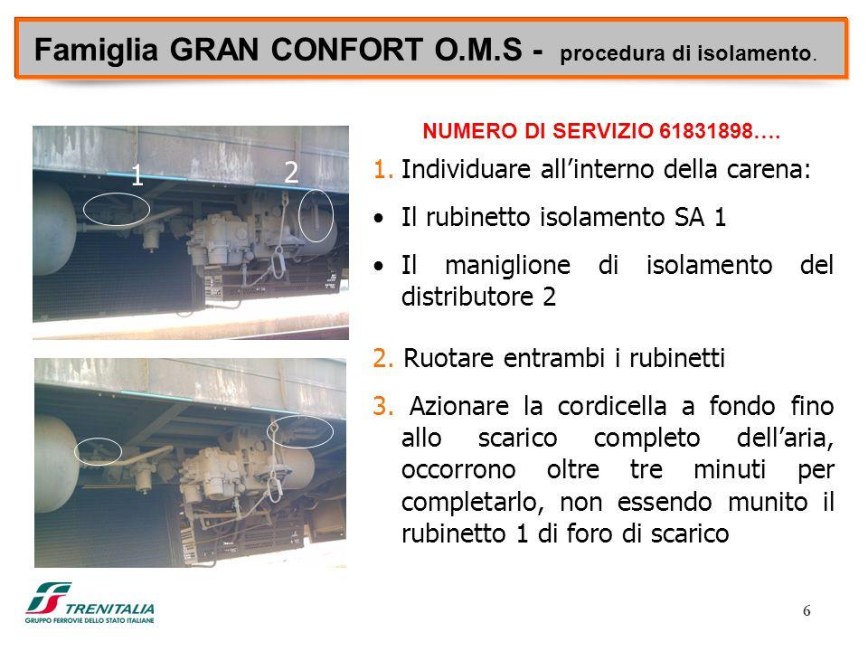 Famiglia GRAN CONFORT O.M.S - procedura di isolamento.