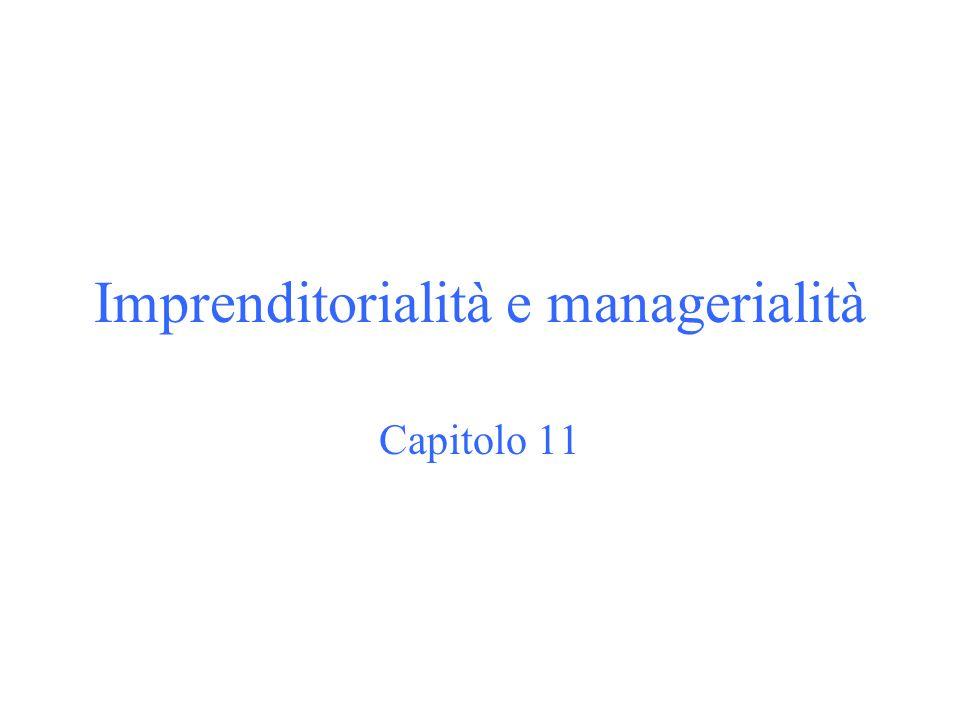 Imprenditorialità e managerialità