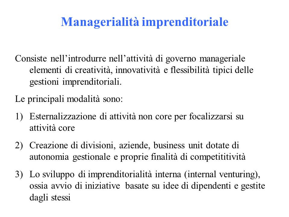 Managerialità imprenditoriale
