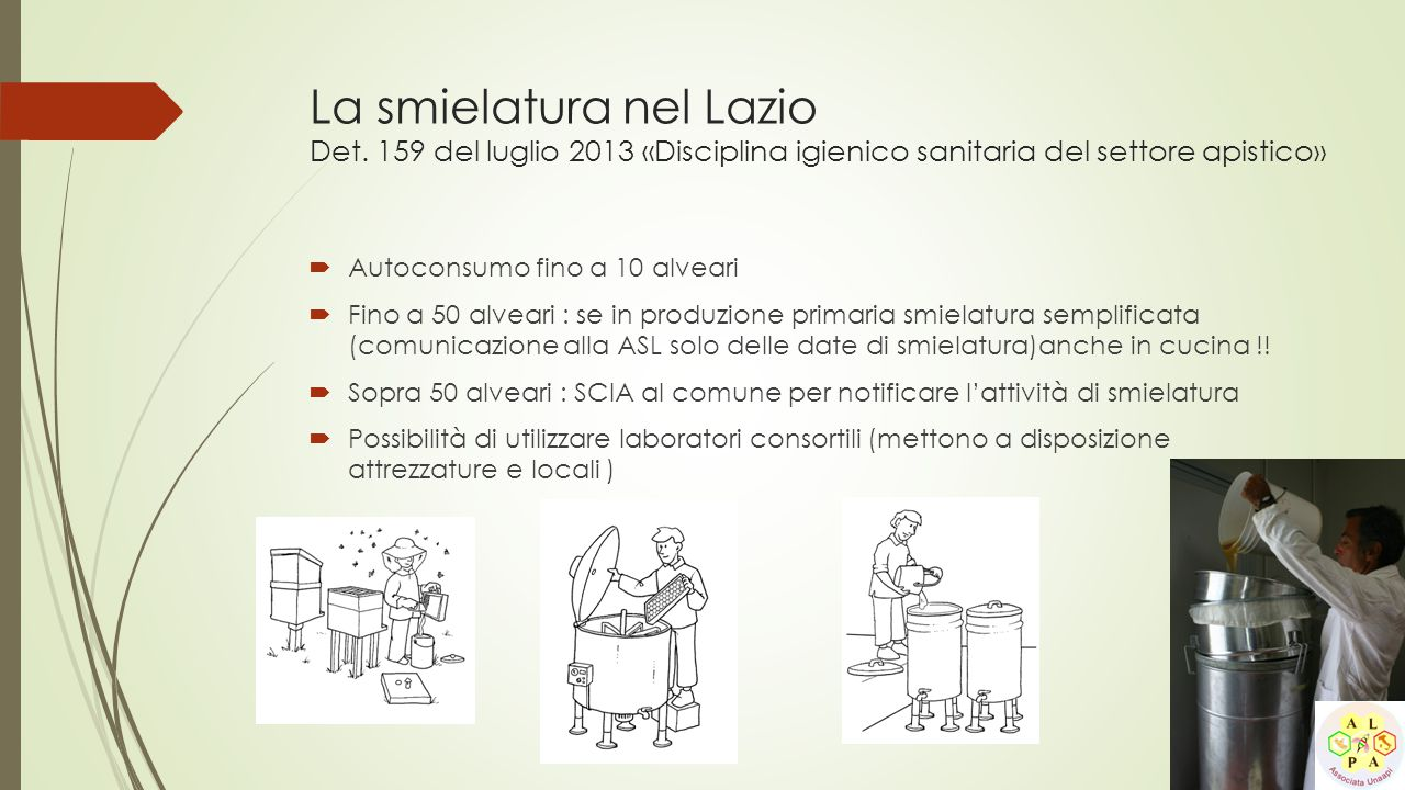 La smielatura nel Lazio Det