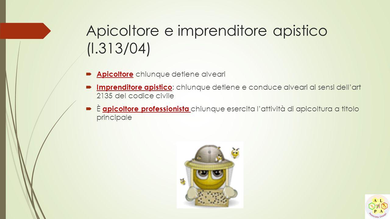 Apicoltore e imprenditore apistico (l.313/04)
