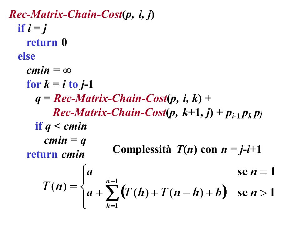 Rec-Matrix-Chain-Cost(p, i, j)