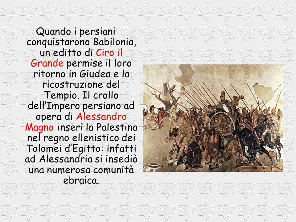 Quando i persiani conquistarono Babilonia, un editto di Ciro il Grande permise il loro ritorno in Giudea e la ricostruzione del Tempio.