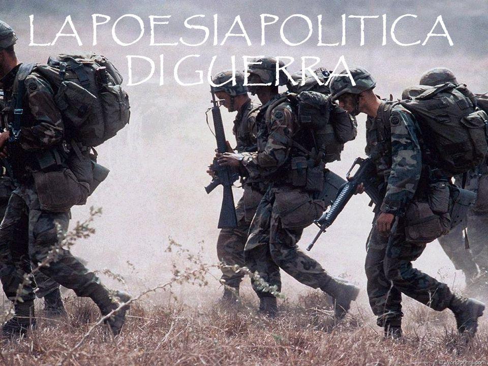 LA POESIA POLITICA DI GUERRA