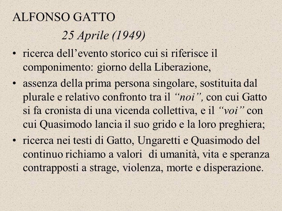 ALFONSO GATTO 25 Aprile (1949)