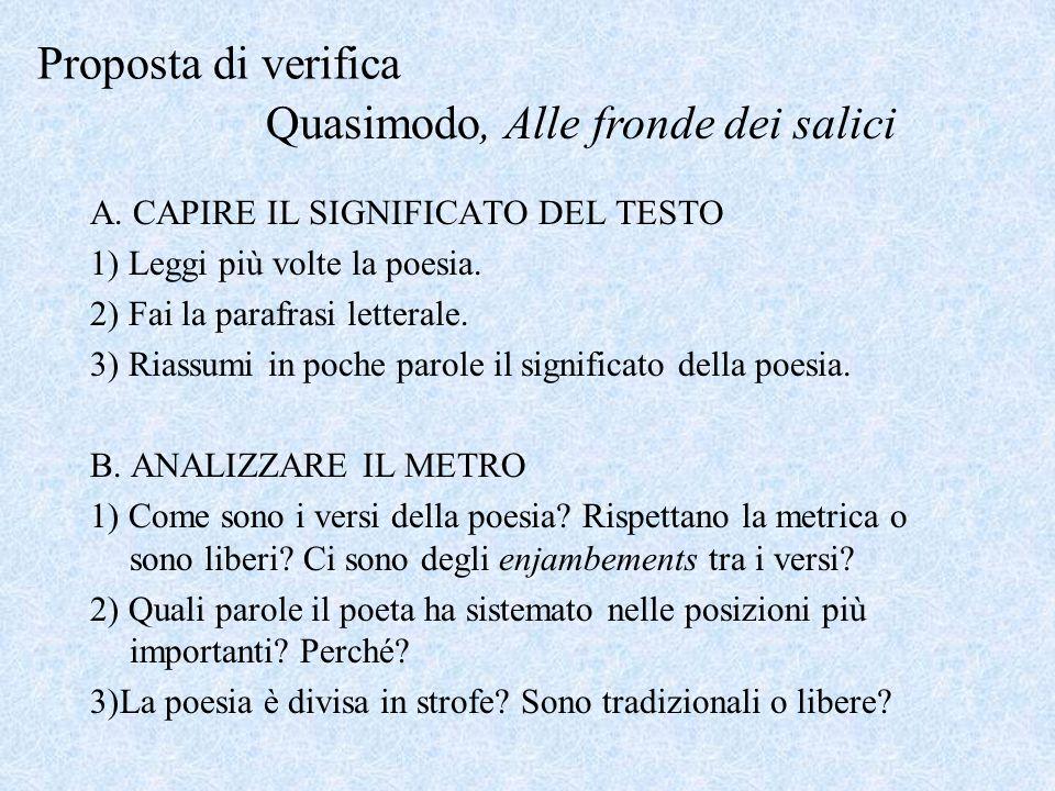 Quasimodo, Alle fronde dei salici