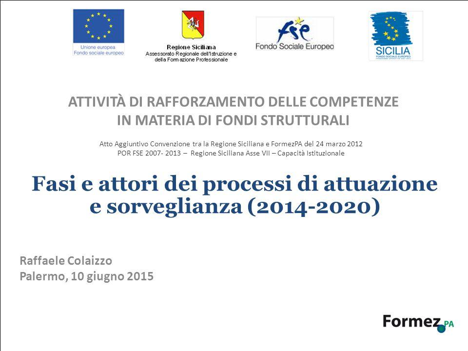 La Nuova Programmazione 2014-2020: scenario di Europa 2020