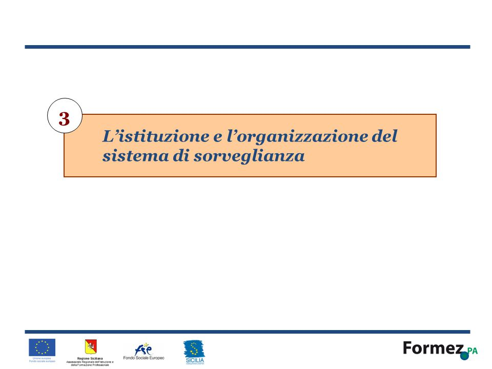 3 L'istituzione e l'organizzazione del sistema di sorveglianza