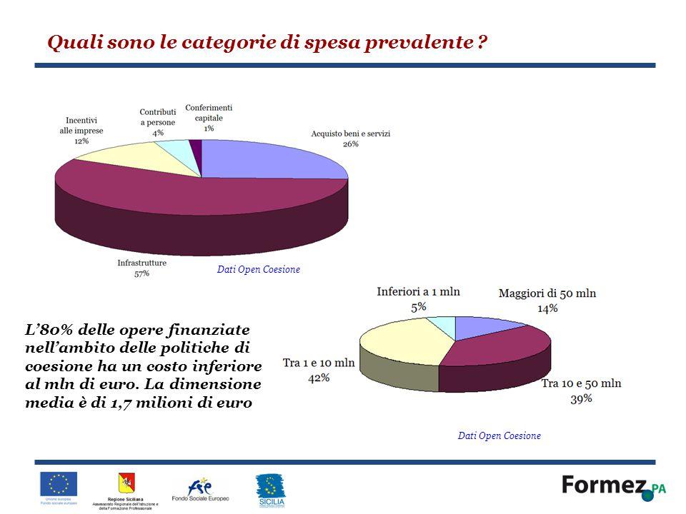Quali sono le categorie di spesa prevalente
