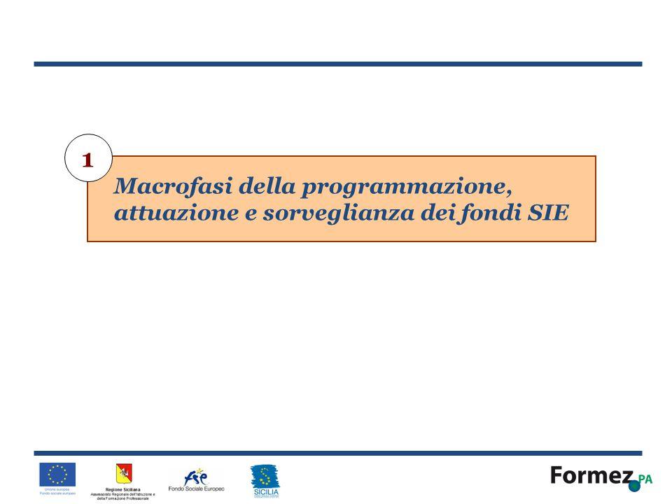 1 Macrofasi della programmazione, attuazione e sorveglianza dei fondi SIE