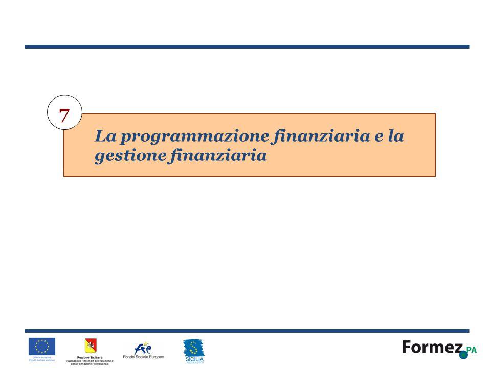 7 La programmazione finanziaria e la gestione finanziaria