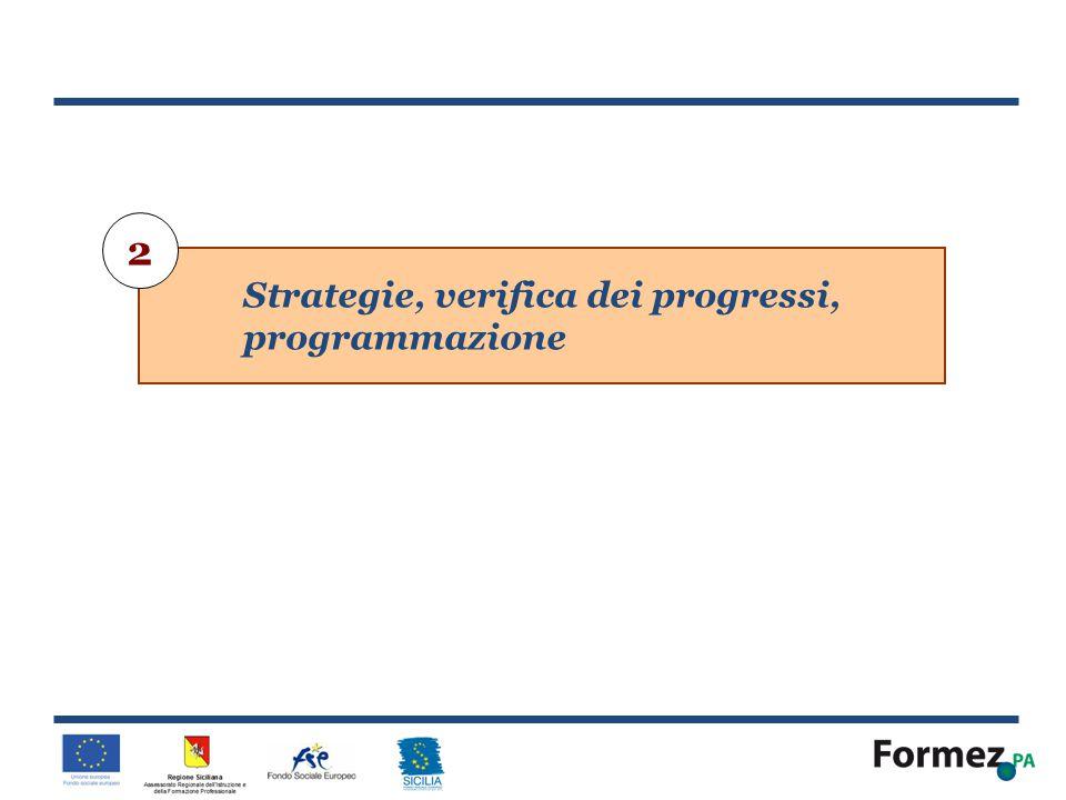 2 Strategie, verifica dei progressi, programmazione