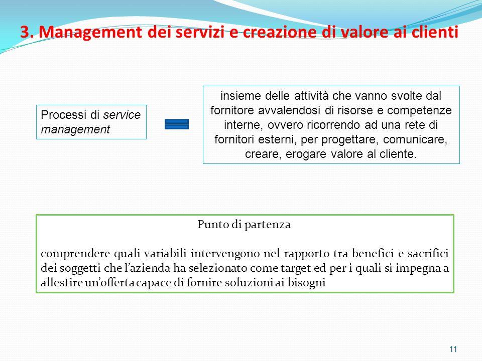 3. Management dei servizi e creazione di valore ai clienti