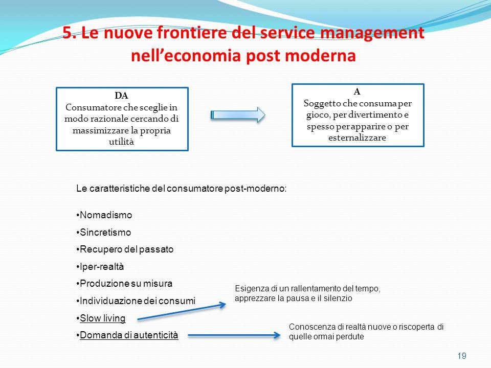 5. Le nuove frontiere del service management nell'economia post moderna