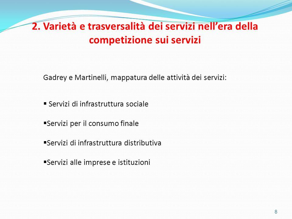 2. Varietà e trasversalità dei servizi nell'era della competizione sui servizi
