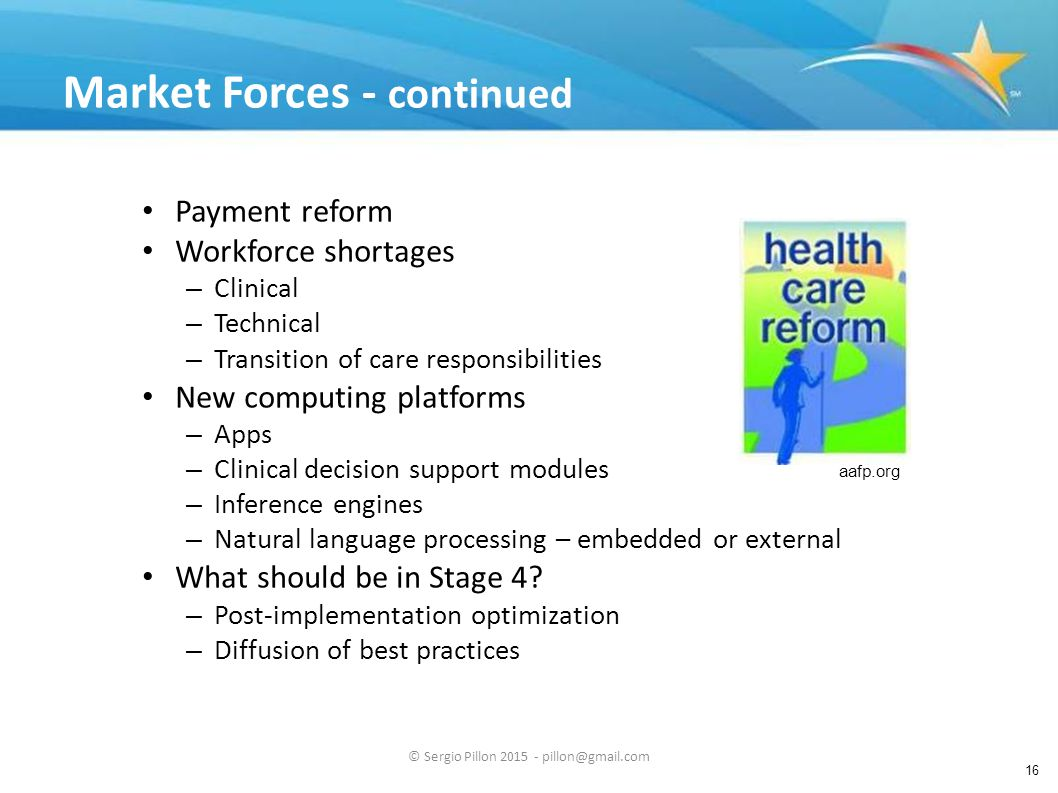 Market Forces - continued