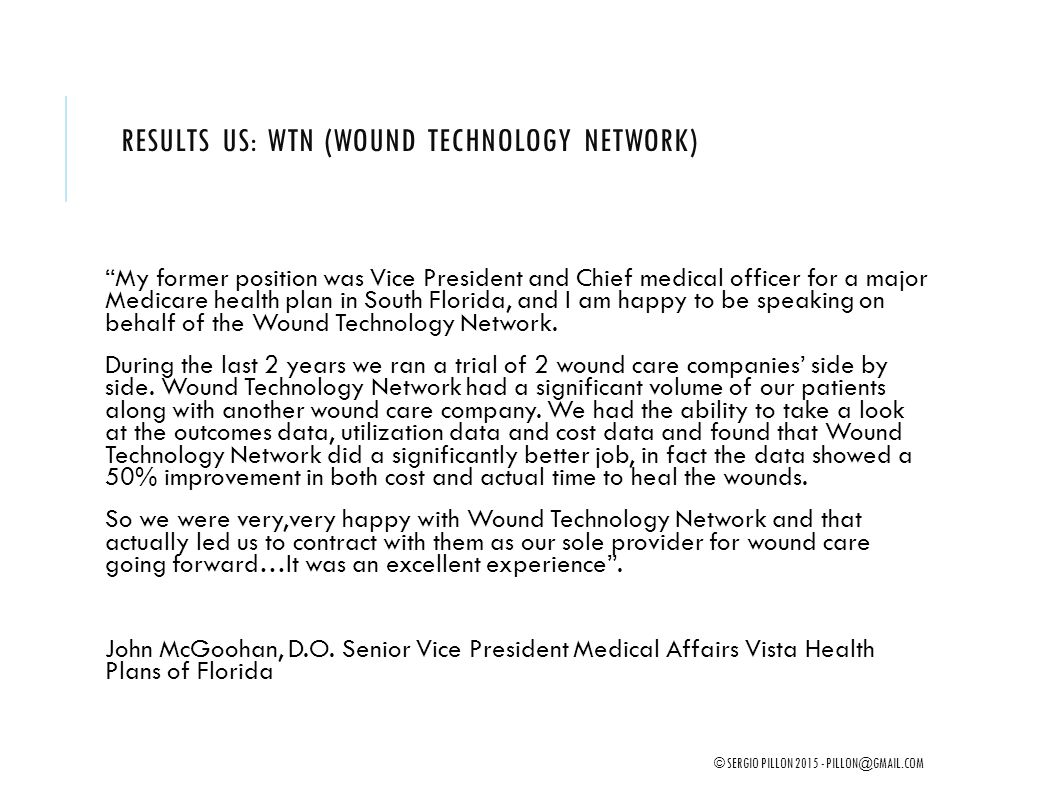 Results US: WTN (Wound Technology Network)