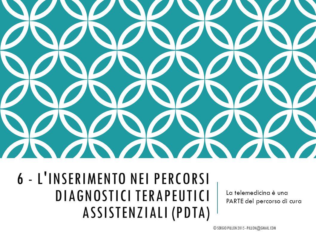 6 - L inserimento nei Percorsi Diagnostici Terapeutici Assistenziali (PDTA)