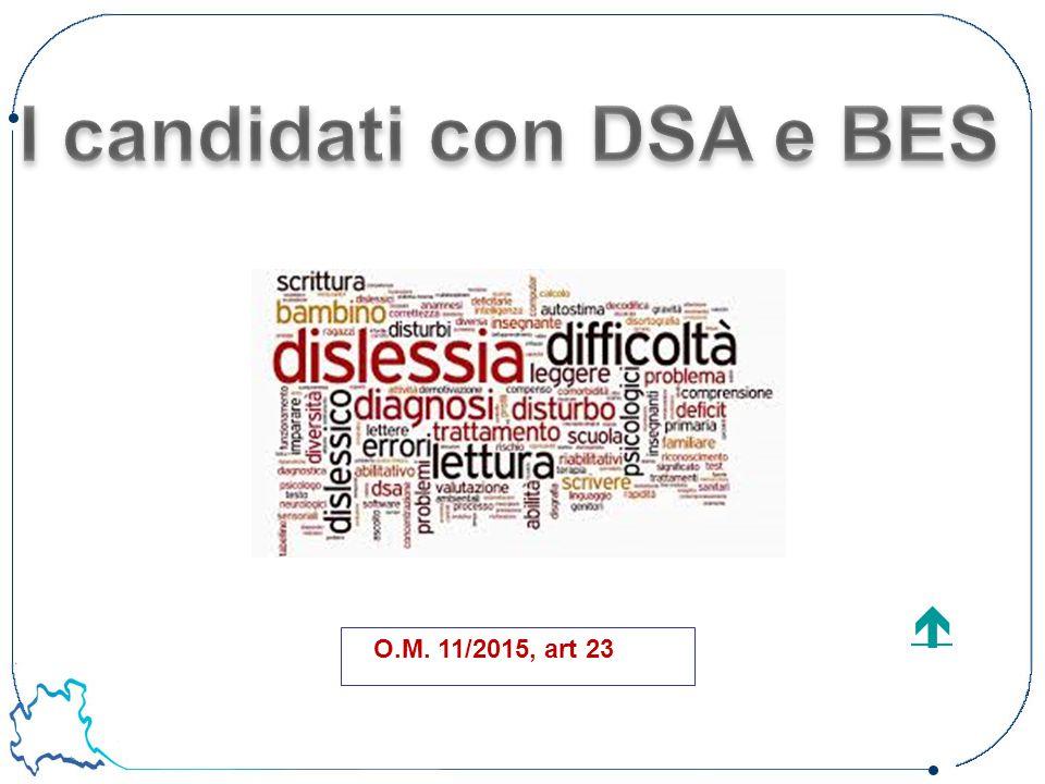 I candidati con DSA e BES