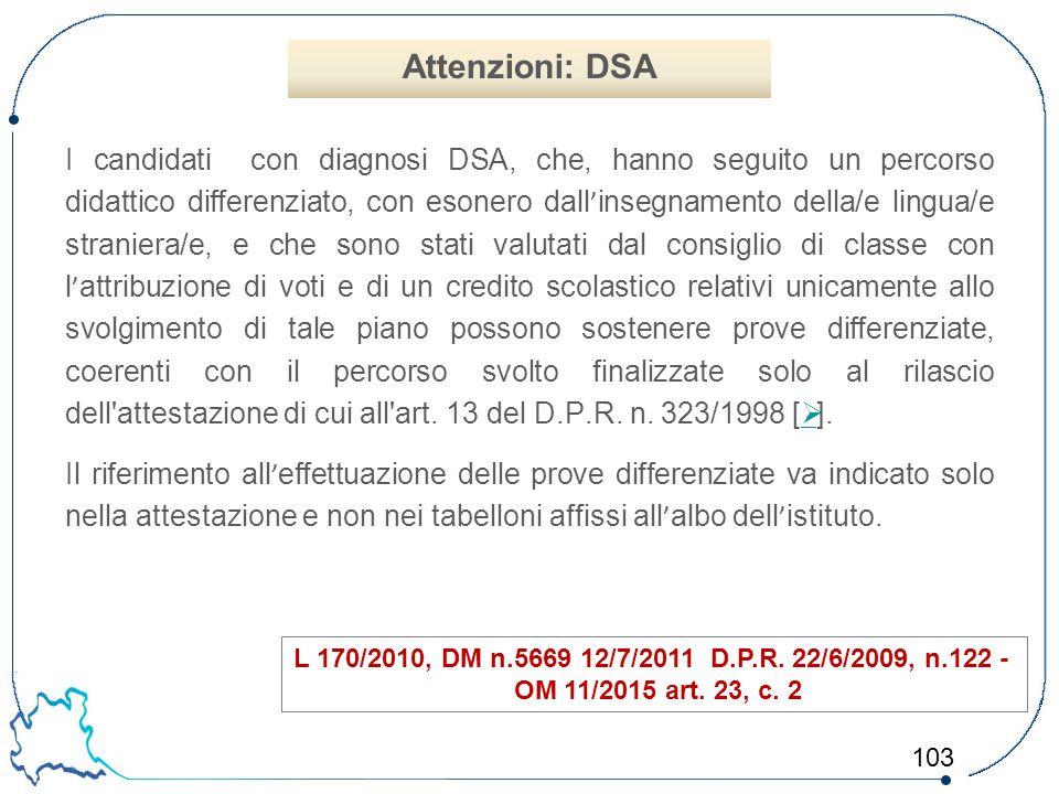 Attenzioni: DSA