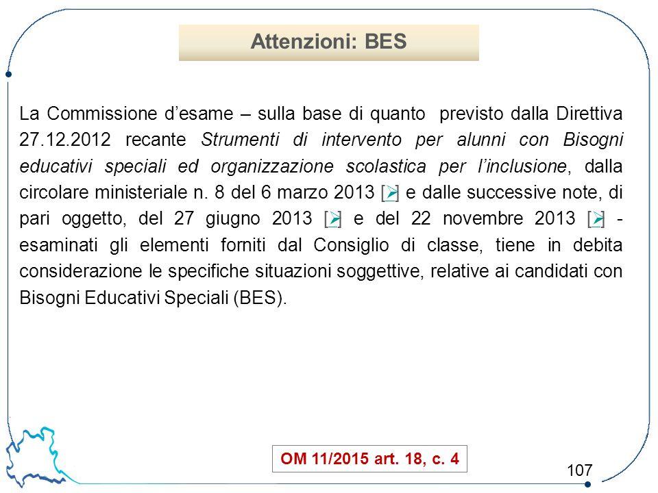 Attenzioni: BES