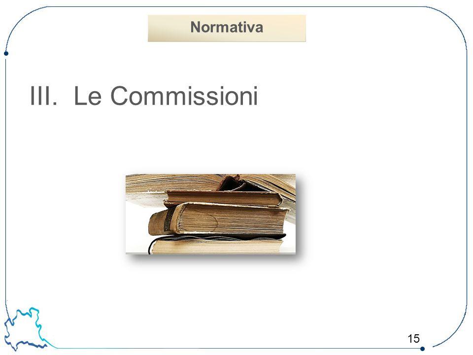 Normativa Le Commissioni