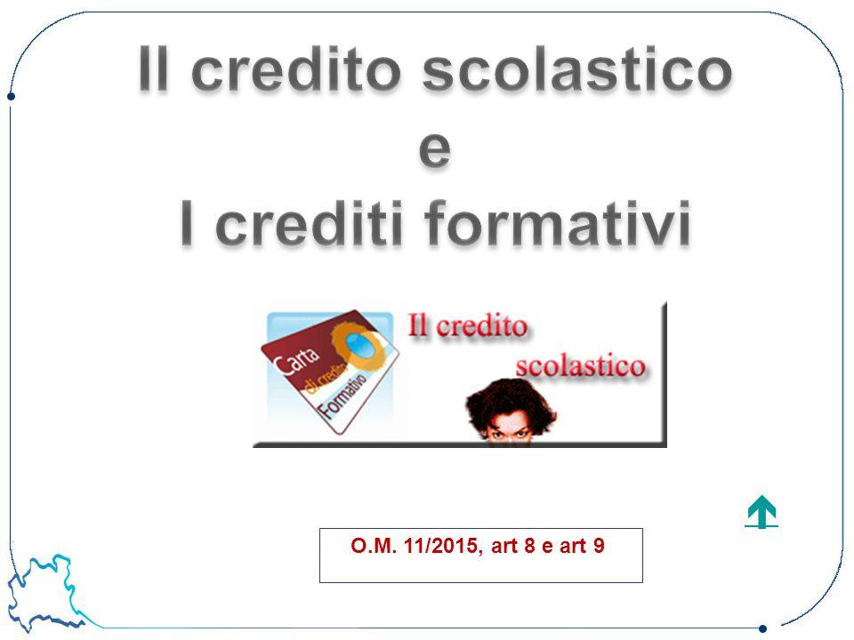 Il credito scolastico e I crediti formativi