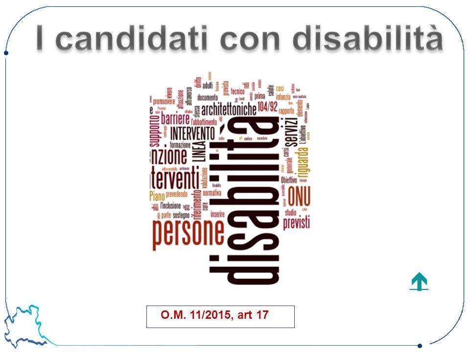 I candidati con disabilità