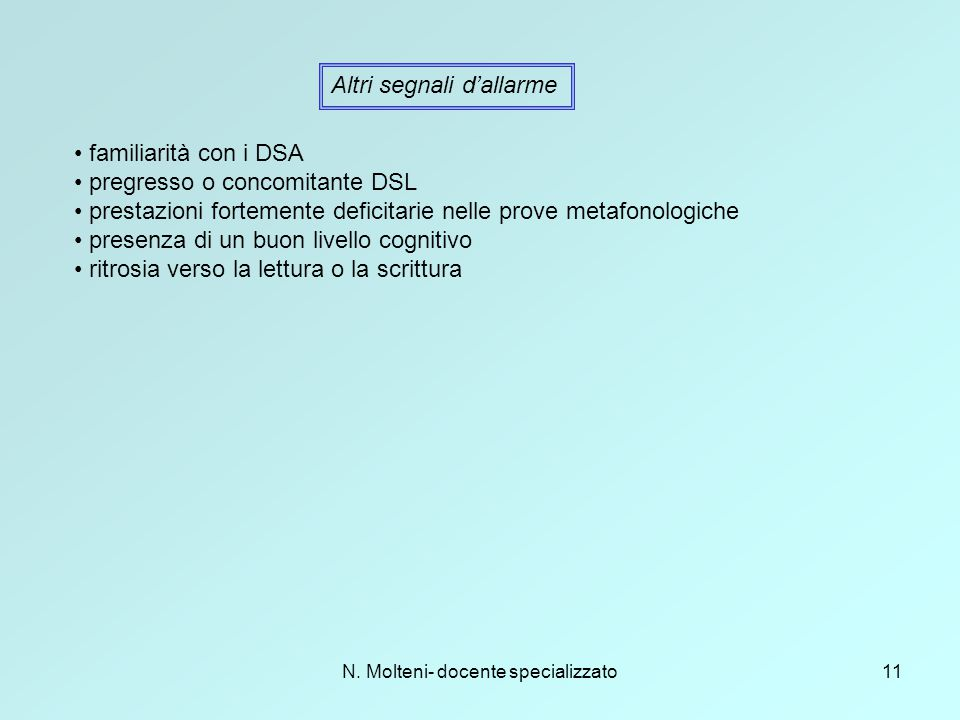N. Molteni- docente specializzato