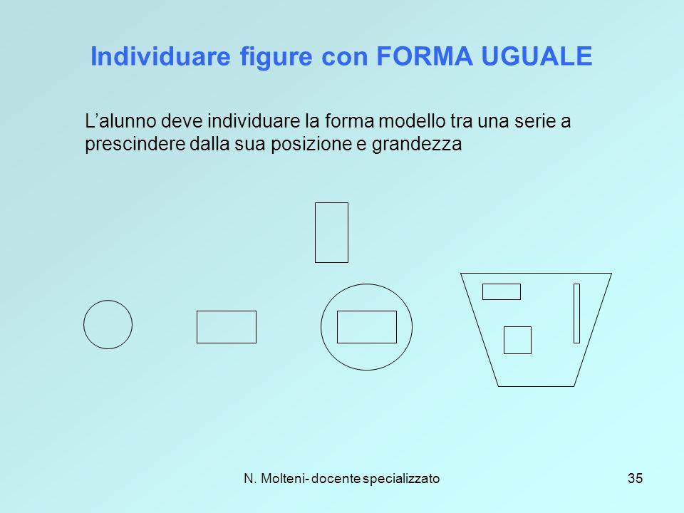 Individuare figure con FORMA UGUALE
