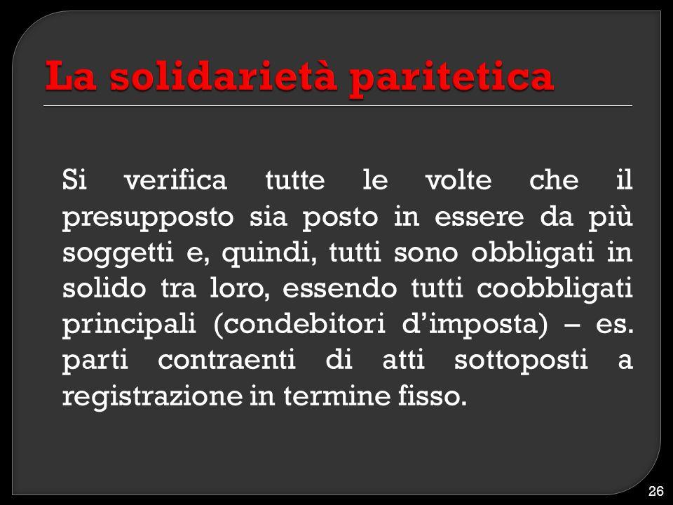 La solidarietà paritetica