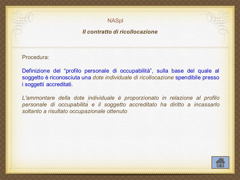 Il contratto di ricollocazione